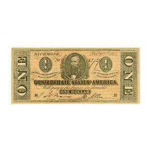 Confederate Dollar Bill