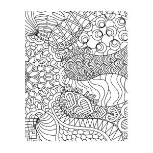 Creative Clutter Bw Drawing By Kathy G Ahrens