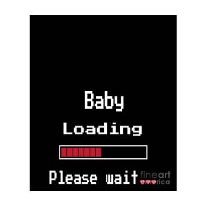 5aee6982 Funny Pixel Pregnant Mommy T Shirt Baby Loading Please Wait Gift by Art  Grabitees
