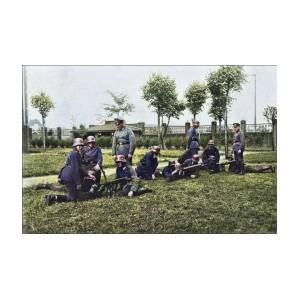 IIi Reich German Soldiers Photos From 1933 To 1945 Wwii - Pomerania,  Training On A Machine Gun - Rei