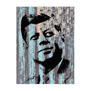 Rolled canvas John F Kennedy JFK Pop Art Warhol Style Poster