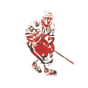 Johnny Gaudreau Calgary Flames Pixel Art 2 Mixed Media By Joe Hamilton