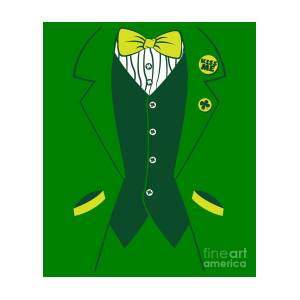 64a5fd1b Leprechaun Tuxedo Tee Shirt For St Patricks Day by Hashtag Dressed