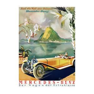 1920 Mercedes Advertising Poster Benz Vintage eWxBordC
