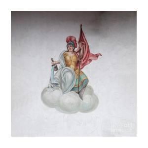 Mural Of Athena Goddess Of Wisdom Handicraft And Warfare A4