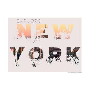 Details about  /E1126 Minimalist Visit New York Travel Art Silk Poster