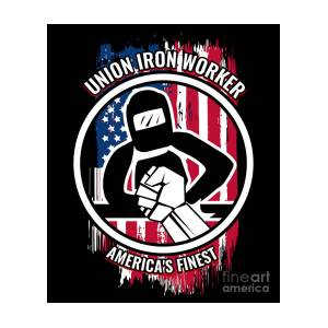 Union Iron Worker Gift Proud American Skilled Labor Workers Tradesmen  Craftsman Professions by Martin Hicks