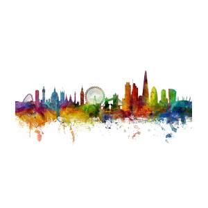 London England Skyline Digital Art By Michael Tompsett