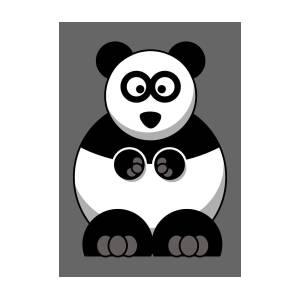 Panda Bear Baby Face Animal Giant Fat Funny Digital Art By Jeff Brassard