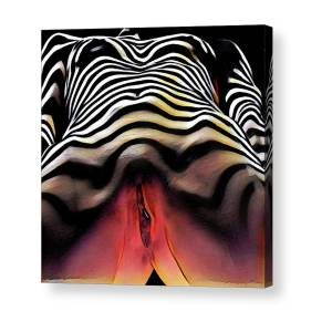 2761s-ak Abstract Painting Rendered Of Squatting Nude