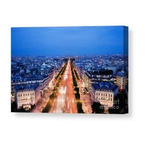 Avenue Des Champs Elysees In Paris Canvas Print   Canvas Art by Michal  Bednarek f0919c357a8eb