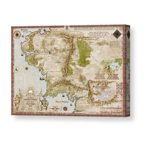 Middle Earth Map Burnt Edges Canvas Print Canvas Art By Anthony