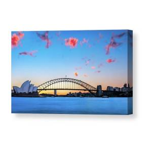 OPERA HOUSE SIDNEY WALL ART CASCADE CANVAS PRINT PICTURE READY TO HANG