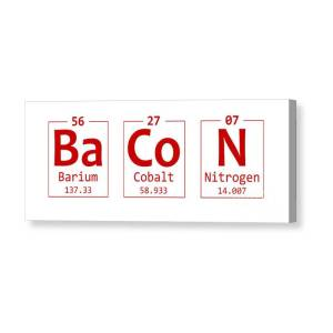 6a1b5716382d Bacon Chemistry Element Word Canvas Print   Canvas Art by Nishanth  Gopinathan