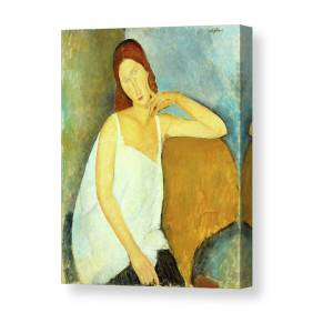 Amedeo Modigliani Nude on a Blue Cushion Giclee Canvas Print Paintings Poster Re