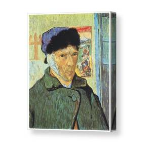 Self Portrait With Bandaged Ear Canvas Print Art By Vincent Van Gogh