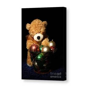 063863d28ac Teddy Bear On Train Canvas Print   Canvas Art by Angel McCoy. Sorting  Oraments Canvas Print   Canvas Art by Angel McCoy