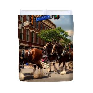 Budweiser Clydesdales in San Antonio Duvet Cover for Sale ...