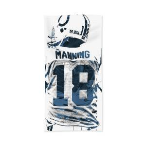f56ca2e1 Peyton Manning Indianapolis Colts Art Bath Towel for Sale by Joe ...