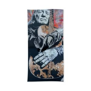 51d985a9992 Willie Nelson And Trigger Xl Bath Towel for Sale by Josh Cardinali