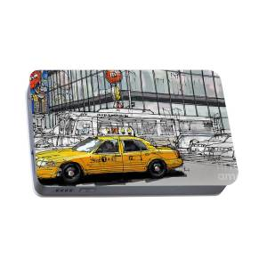online store 7adc9 ed461 Daffys New York City Yellow Cab Original Sketch Portable ...