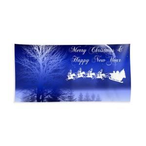 Christmas Card 2 Beach Towel For Sale By Mark Ashkenazi