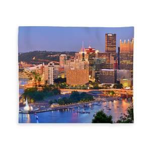 "City of Pittsburgh Incline Skyline Fleece Throw Blanket 50/"" x 60/"""