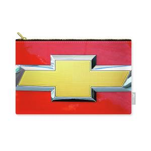 American Flag Chevy Bowtie Carry-all Pouch for Sale by Katy Hawk