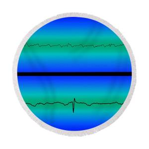 Atrial Flutter Round Beach Towel for Sale by Science Source
