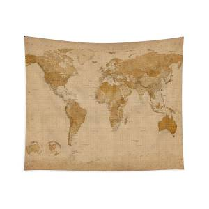 small world map tapestry Cats Map Of The World Map Tapestry For Sale By Michael Tompsett