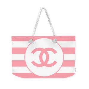 48069abf221 Chanel - Stripe Pattern - Pink - Fashion And Lifestyle Weekender Tote Bag  for Sale by