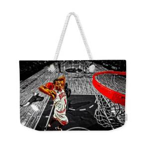 a14232fc5401 Derrick Rose Taking Flight Weekender Tote Bag for Sale by Brian Reaves