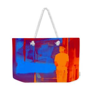 4fc9504d2aca Travel Abstract Square Blue Orange Portrait Sun Fort India Rajasthan 2d Weekender  Tote Bag for Sale