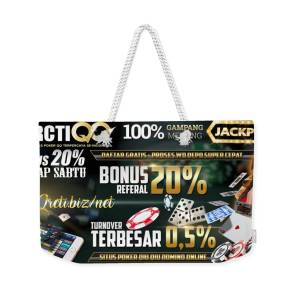 Rctiqq Com Agen Judi Poker Dominoqq Bandarq Sakong Online Terpercaya Indonesia Weekender Tote Bag For Sale By Rctiqq 7 Games Dalam 1 User Id