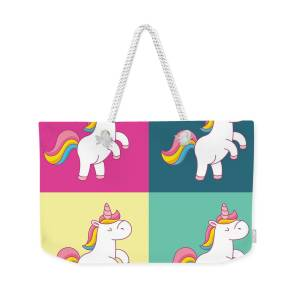 Unicorn Graffiti Wall Art Print Design Weekender Bag