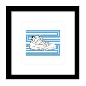 20a911db4103 Jordan 11 Columbia Framed Print by Letmedraw Yourpicture