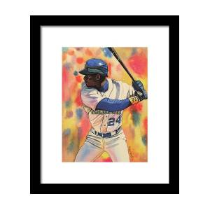 0f1aaf3cac Ken Griffey Jr. Seattle Mariners Framed Print by Michael Pattison