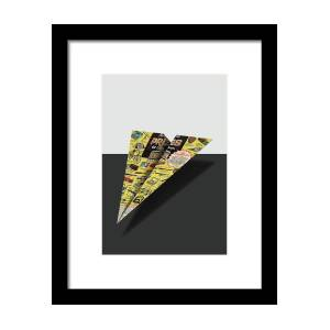 6a767222eec9 Olympic Sales Club Comic Book Ad Paper Airplane Framed Print by YoPedro
