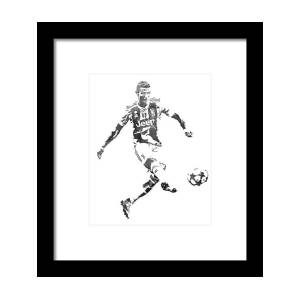 Cristiano Ronaldo Real Madrid Pixel Art 1 Framed Print By