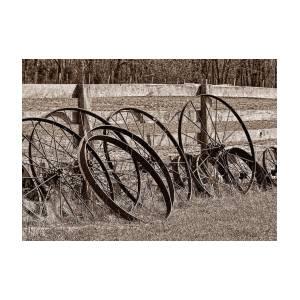 Antique Wagon Wheels Ii Greeting Card For Sale By Tom Mc Nemar