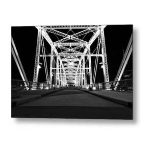 Squire Whipple Truss Bridge Patent Metal Print by Dan Sproul