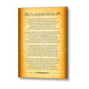 image relating to If by Rudyard Kipling Printable called If By way of Rudyard Kipling - Parchment Design Steel Print by means of Ginny