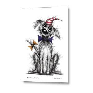 Happy Birthday Dog Metal Print by Keith Mills