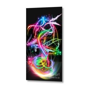 neon gremlins metal print by jd poplin fine art america