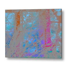 Abstract Landscape Blue Sky Metal Print