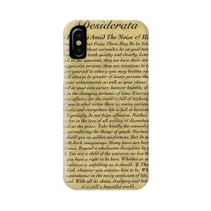 Desiderata Poster On Antique Embossed Wood Paper Iphone X