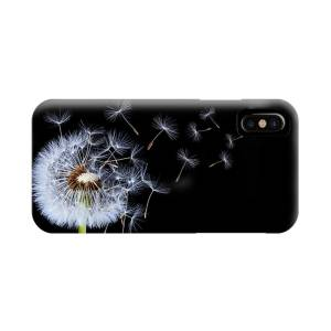 Dandelion On Black Background Iphone X Case For Sale By Bess