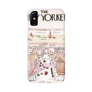 5b8235a1390 The New Yorker - Magazine Cover - Vintage Art Nouveau Poster IPhone X Case  for Sale