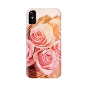 Seven Pink Roses With A Plain Pink Background Iphone X Case