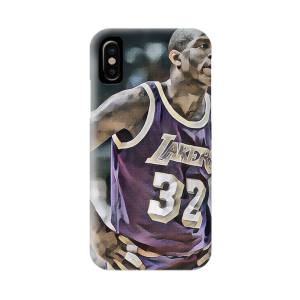 Magic Johnson LOS ANGELES LAKERS PIXEL ART 6 IPhone X Case for ...